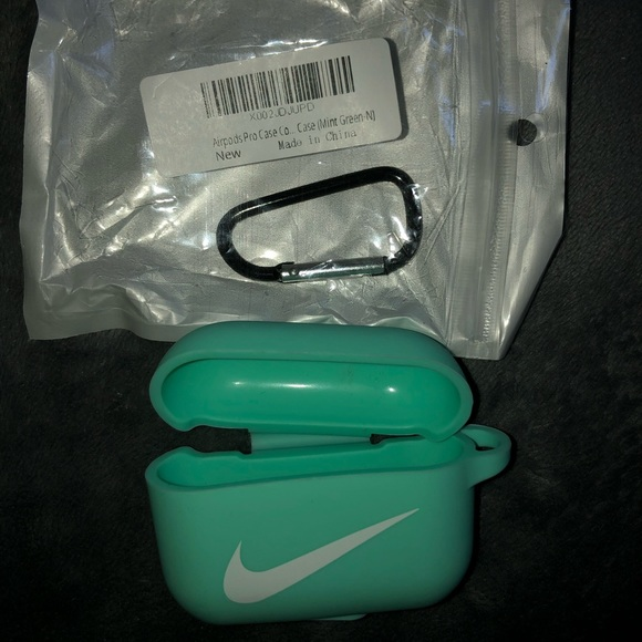 Nike mint green silicone air pod pro case
